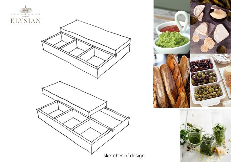 Sketches of design........