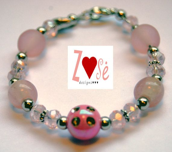 Girls #pink #bracelet size medium. Fits ages 2-5 by #ZoseDesigns, $10.00