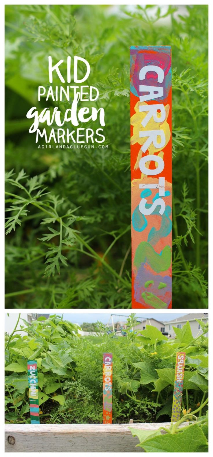 Outdoor Craft Ideas Gardens Part - 46: Kid Painted Garden Markers