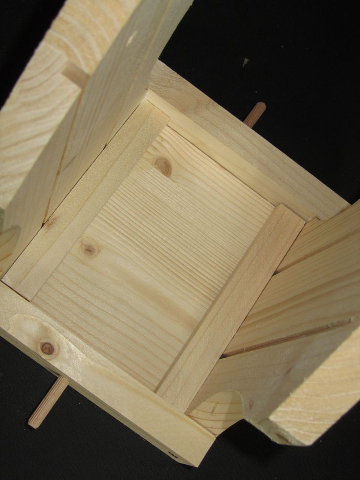 Vogelhaus-Bausatz: Distanzhölzchen und Landestangen