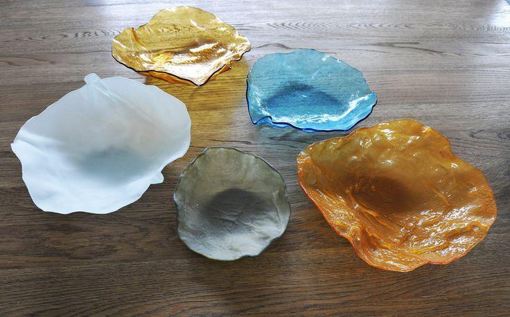 Hand made glass bowls