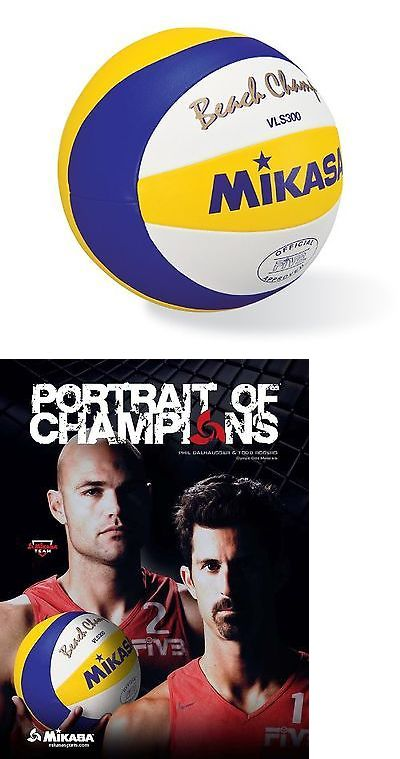 Volleyballs 159132: Mikasa Beach Champ Volleyball Official Size Blue/Yellow BUY IT NOW ONLY: $64.35
