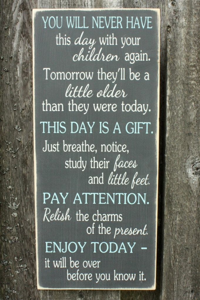 Enjoy Today Mother Children Home Decor Wood by RusticPineDesigns, $55.00