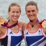 Helen Glover (left) and Heather Stanning (right)
