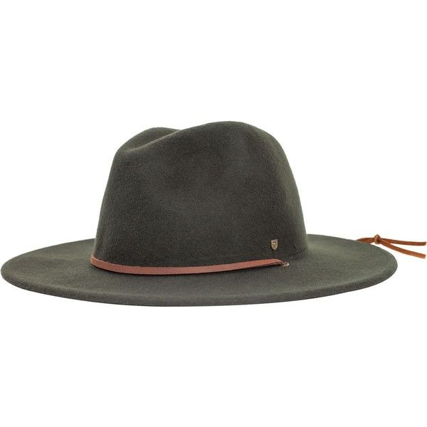 Brixton Field Hat ($41) ❤ liked on Polyvore featuring men's fashion, men's accessories, men's hats, mens wide brim hats and mens felt hat