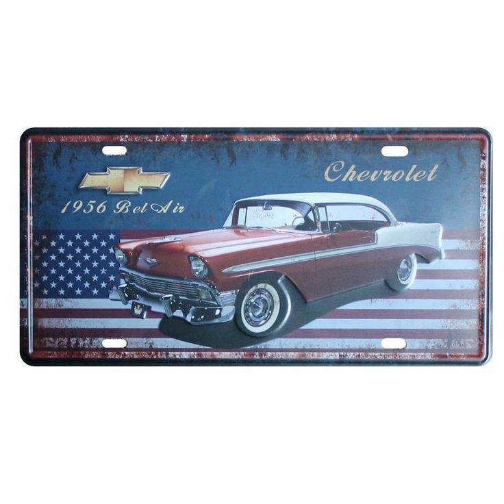 [ Mike86 ] 1957 US Car License plate Wall painting decoration Retro Gift Craft Tin signs D-396 Mix order 30*15 CM