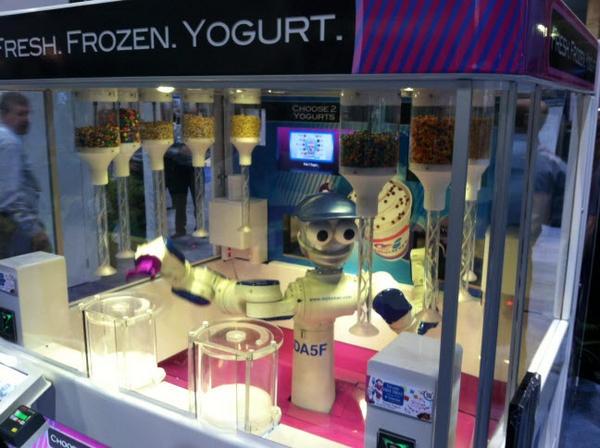 robot yogurt machine