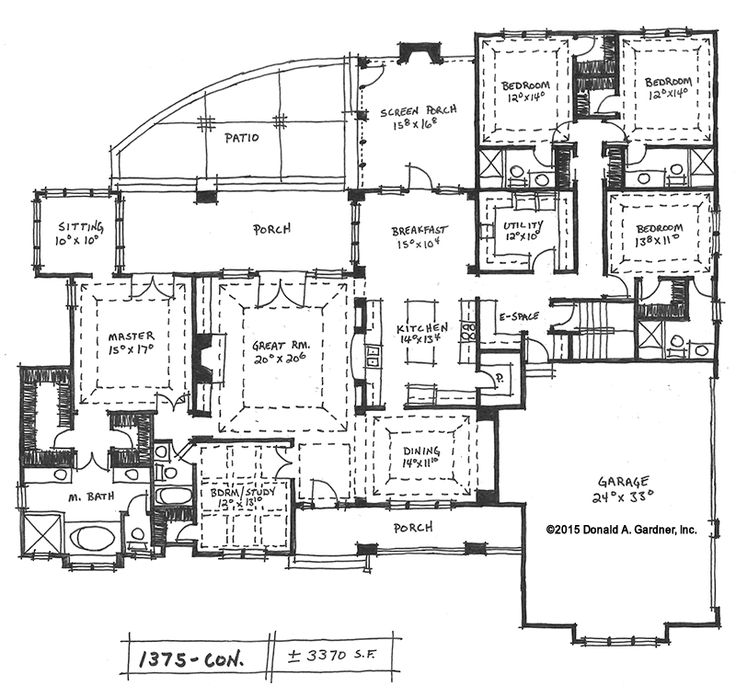 House plans with extra large great room for Ranch floor plans with great room