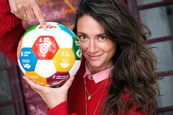 Cecilie Nørgaard #eirsoccer #globalgoals #un #fn #ambassador #portrait #equalgender #girlssoccer #nørgaard