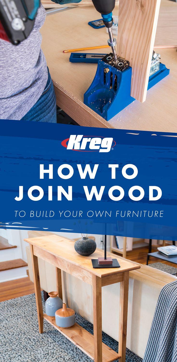 Building your own furniture is easier than you think! With the help of a Kreg Jig, you can complete countless DIY home improvement projects. In addition, we offer the hardware and accessories you'll need, technical support via phone and email, plus free project plans and how-to videos! Get started building with us today! #kregjig #kregjigproject #buildsomethingwithkreg #diyproject #diyfurniture #diyhomedecor #diydecor #woodworking #woodworkingplans #woodworkingproject #woodworkingtools