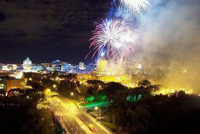 Fireworks Over the Manitoba Legislature - Winnipeg | by skinlovr