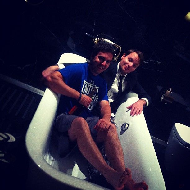@tweetperth & @ryannorthover bath time buddies!!! #socmedsleepover