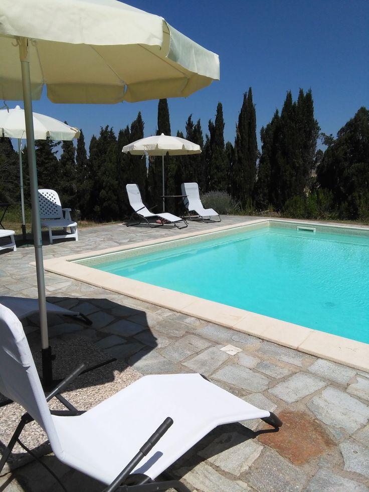 in #piscina , un po' di #relax in #agrituirsmo a #scornello vicino a #Volterra