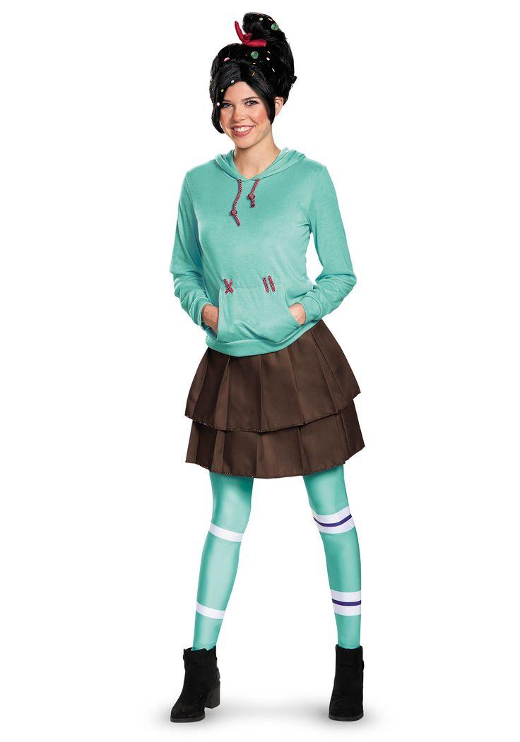 Adult Deluxe Vanellope Von Schweetz Costume  Wreck It -8737