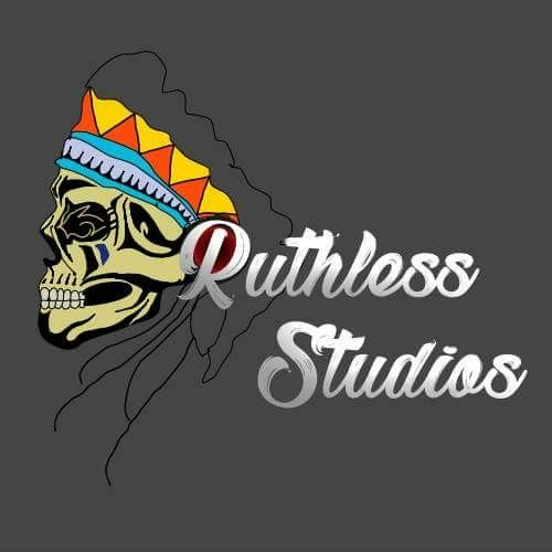 This is the start of a logo that I made for a facebook page i was going to set up to be a freelance designer but getting clients was difficult. I started with experimenting text first and then thaught of the indian skull idea.