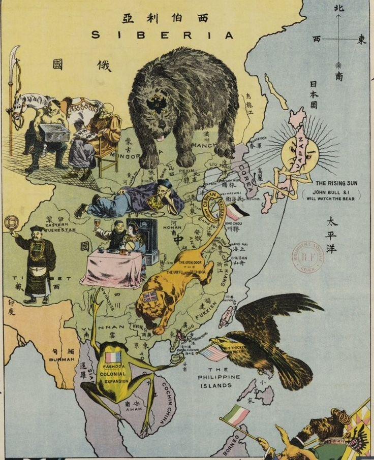 Detail 190 Carte allgorique en japonais et