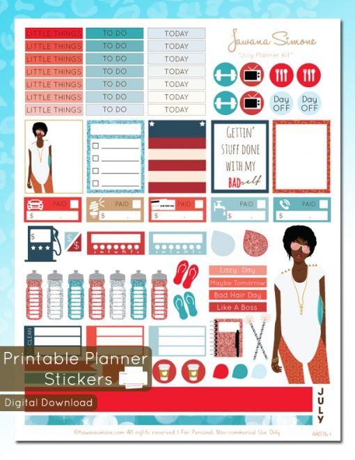 July Vol I Weekly Planner Kit Stickers Etsy Digital