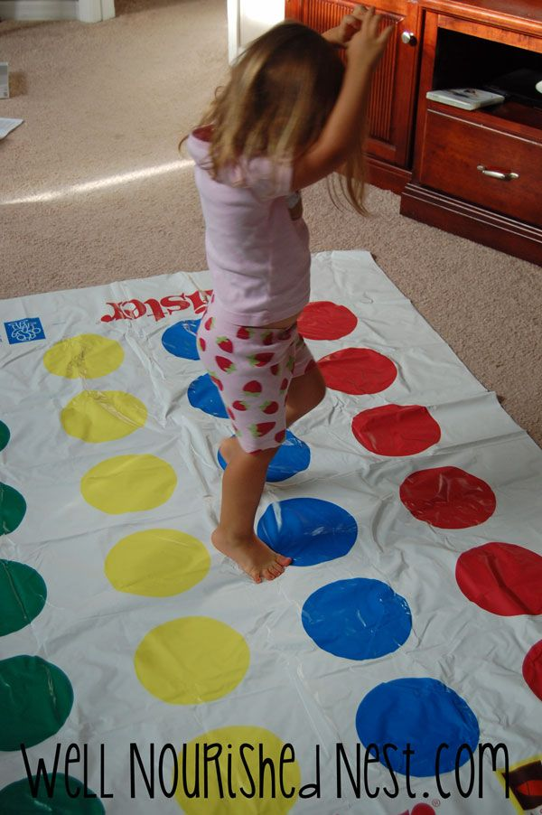 Tips for playing twister in new ways for indoor gross for Indoor large motor activities for toddlers