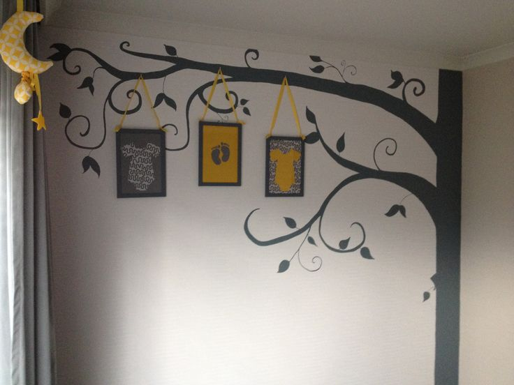 Tree Wall Decal - Nursery Wall Decoration - Tree Wall Sticker - Full ...