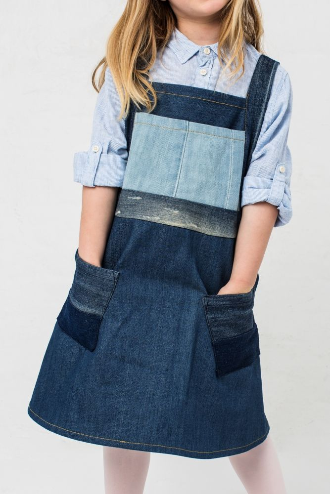 Kostenlose Anleitung: Jeans-Latzkleid - Initiative Handarbeit