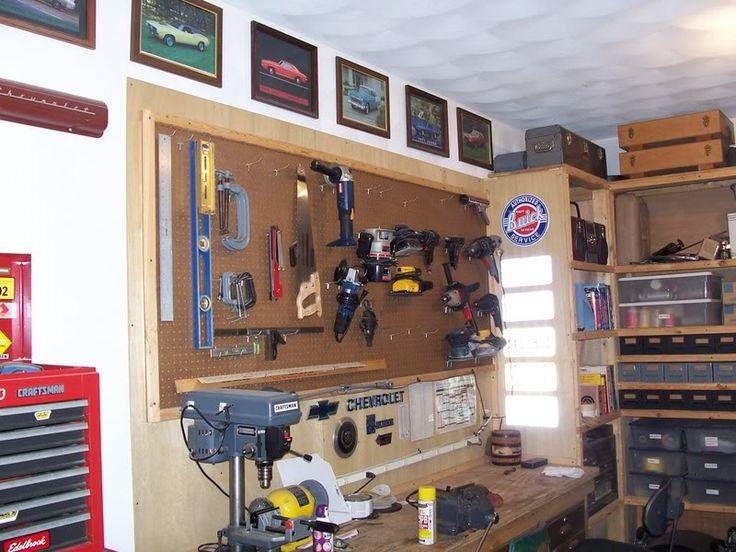 27 best images about garage organization pegboard ideas on for Diy garage shop