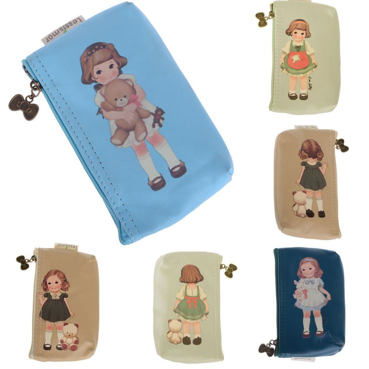 Women Leather Doll Coin Card Cartoon Wallet Purse Bag Case Handbag Clutch New