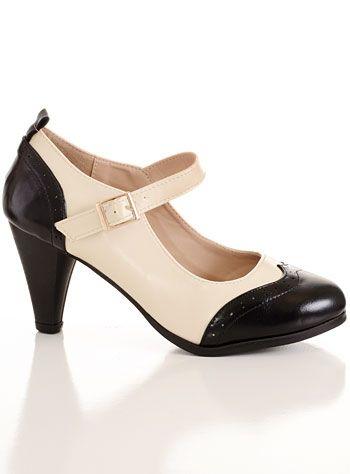 Lindy Hop Heeled Maryjane 1940s Shoes $42.00 AT vintagedancer.com