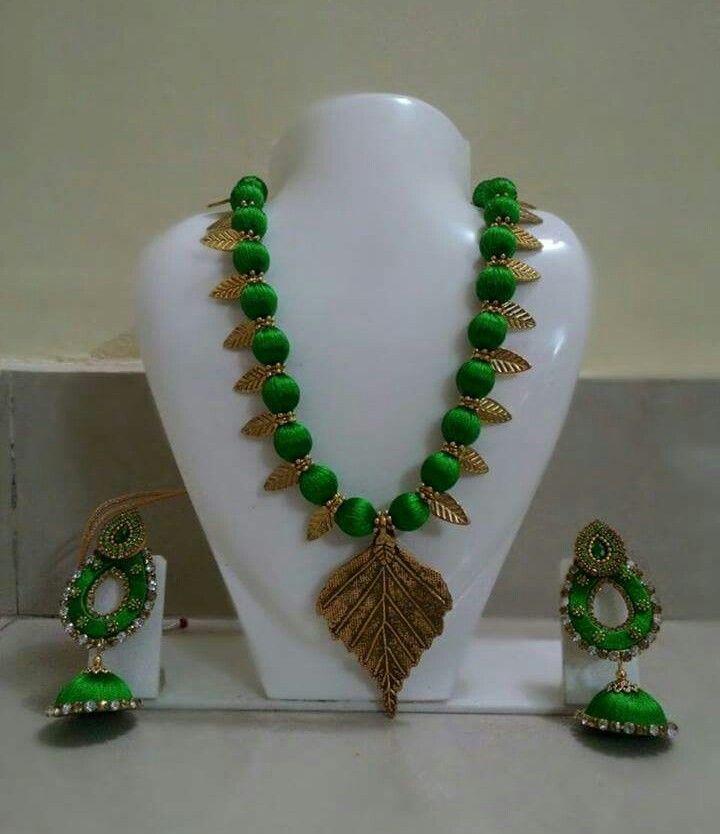 Silk jewellery