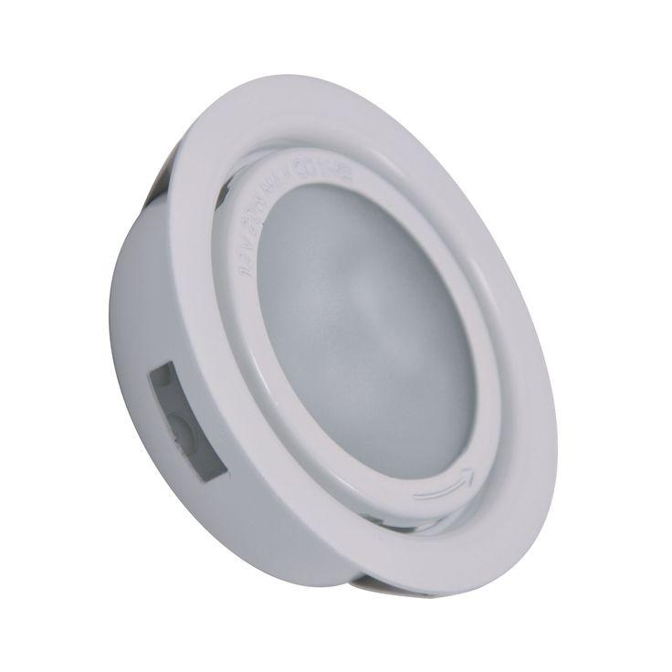 Alico MiniPot Premium 1 Lamp Xenon Cabinet Light In White And Frosted Glass