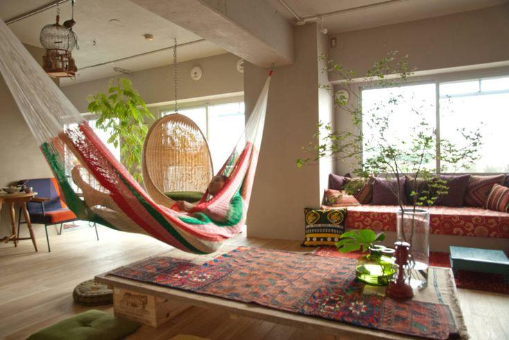 Tiempo de descanso: 10 hamacas para interiores y exteriores modernos. Más ideas en www.homify.com.mx