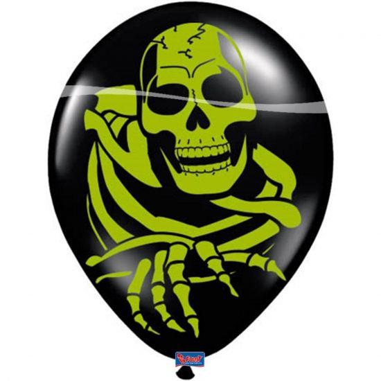 Zwarte ballonnen met groen skelet 8 stuks  Halloween ballonnen skelet. Zwarte halloween ballonnen met gif groen skelet. Het zakje ballonnen bevat een aantal van 8 stuks. De ballonnen hebben een Formaat van ongeveer 30 cm.  EUR 2.45  Meer informatie