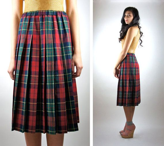 Womens long red plaid skirt – Modern skirts blog for you