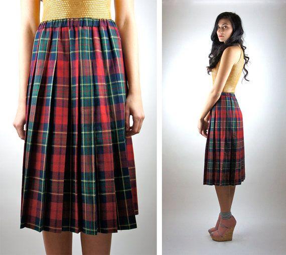 Womens long red plaid skirt – Modern skirts blog for you