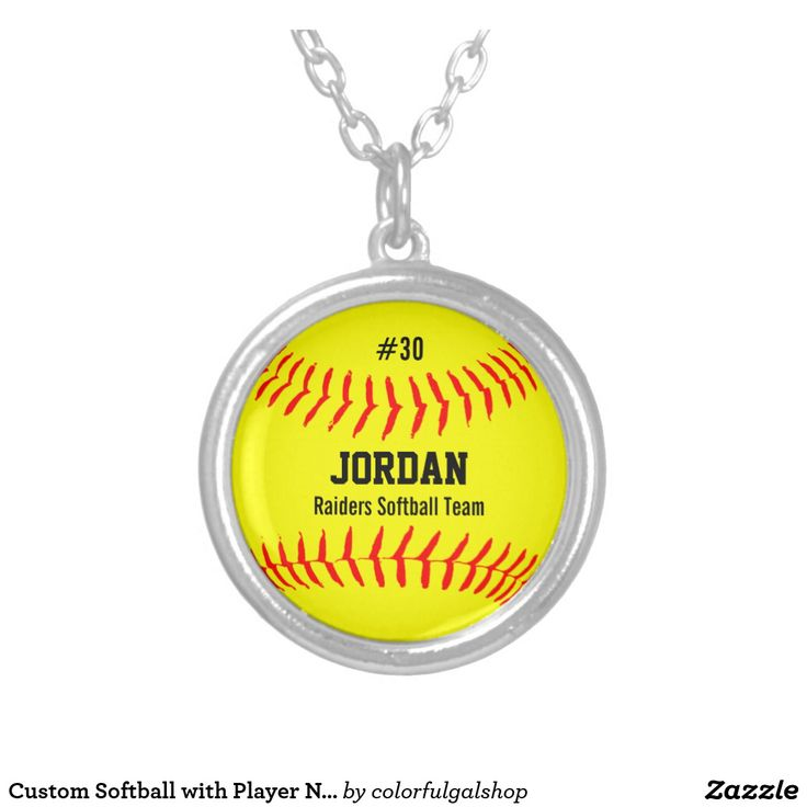 Custom Softball with Player Name, Number, Team