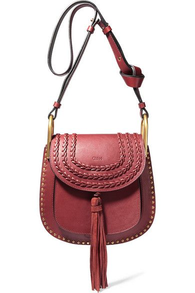 Claret leather (Calf) Snap-fastening front flap Designer color ...