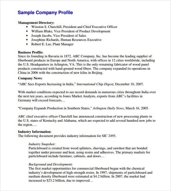 32 Free Company Profile Templates In Word Excel Pdf Company