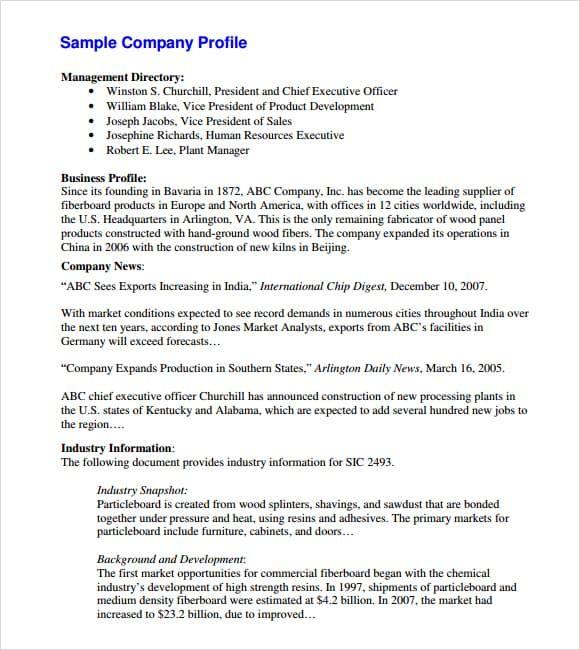 Architecture Company Profile Sample Pdf Lola Chic Fashion Company