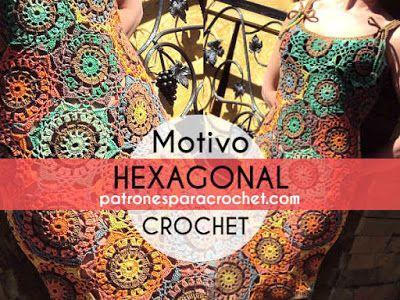 Padrões de padrão de crochê hexagonal explicado passo a passo