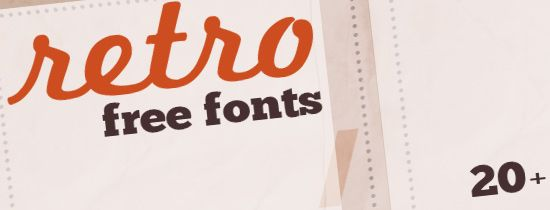 20+ High-Quality Free Fonts for Retro and Vintage Design