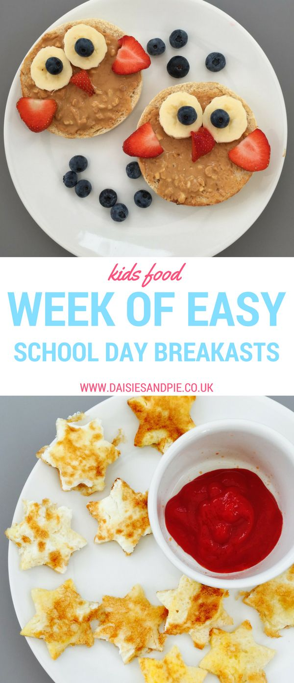 A week of easy school day breakfasts, back to school breakfast ideas, kids breakfasts