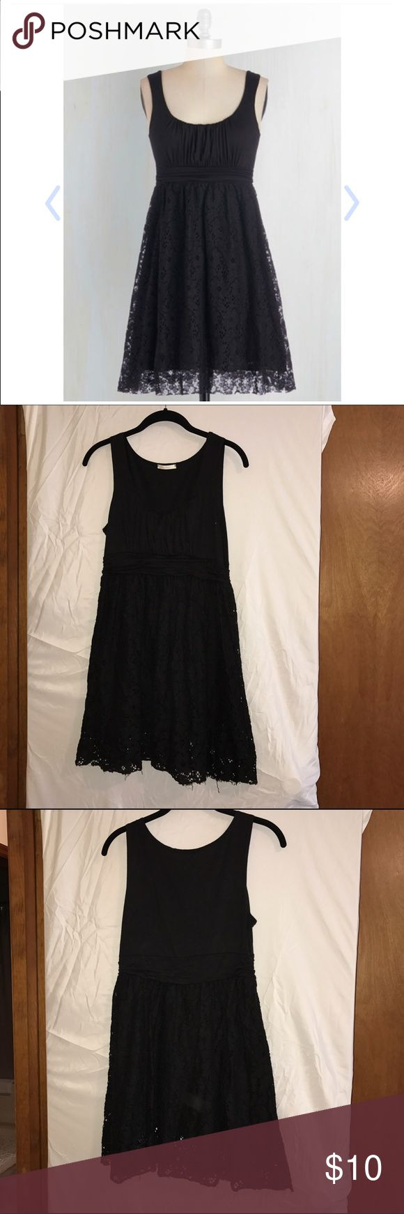 ModCloth- Artisan Iced Tea Dress in Black Super cute and comfortable dress! I paid a $36 sale price originally (we all know how prices fluctuate on ModCloth!) Very versatile, can be dressed up or down. maitai Dresses