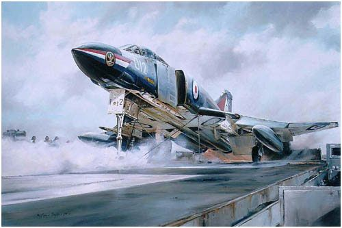Phantom Launch by Robert Taylor - Fleet Air Arm FG1 Phantom 892Sqn from HMS Ark Royal