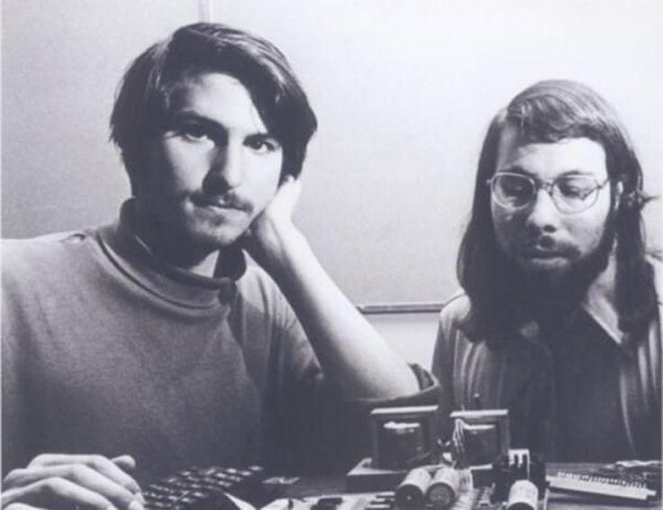 Steve Jobs & Steve Wozniak working together in the early days of Apple