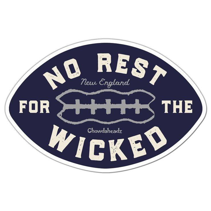No Rest For The Wicked Football Sticker