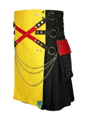 Multi Color Apron/Pockets Kilt side front