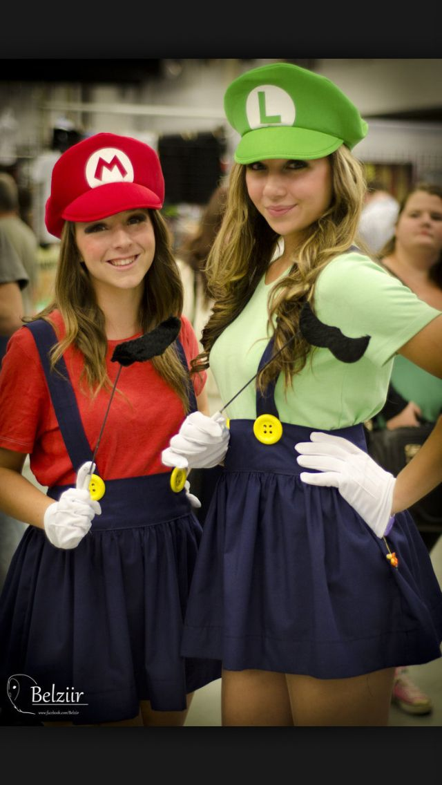 mario and luigi best friends costumes paris and destinee pinterest fasching kost m und. Black Bedroom Furniture Sets. Home Design Ideas
