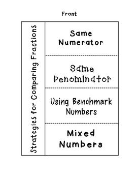 Comparing Fractions Foldable - for interactive math notebooks