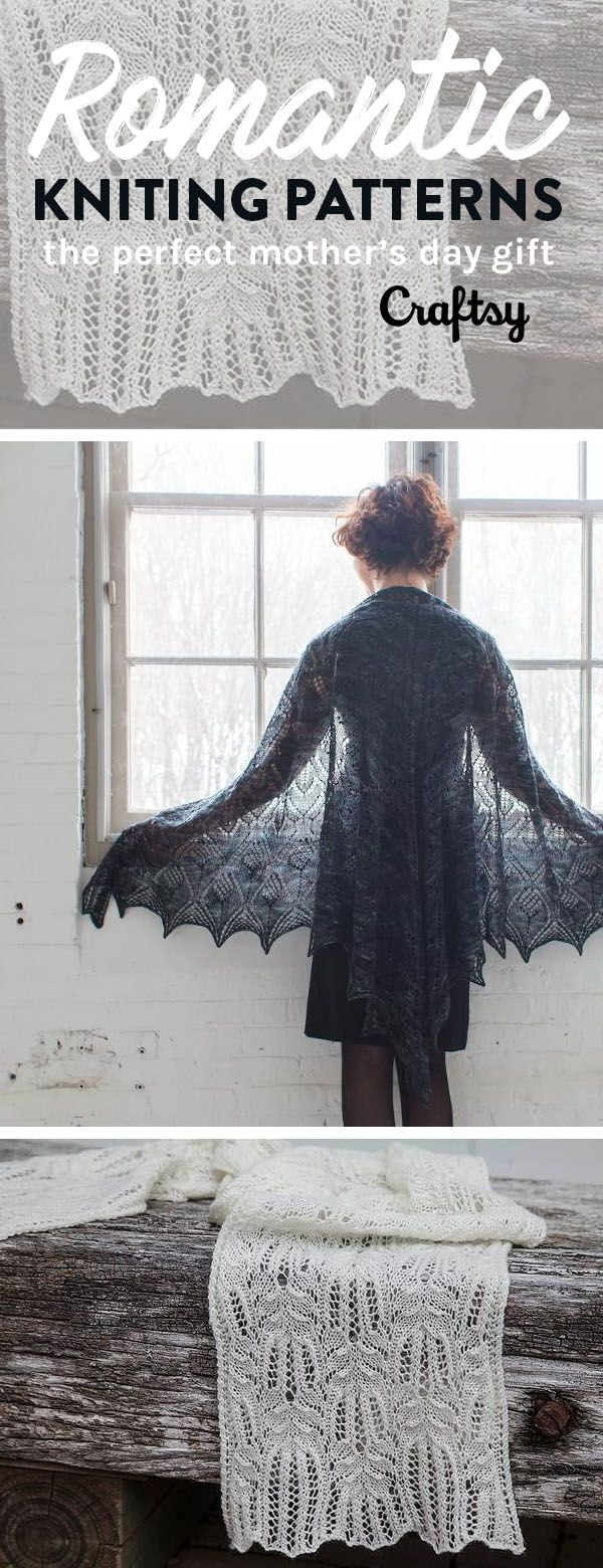 These beautiful, romantic, and lacey knitting patterns make for a gift your mom will love. Get started on one of them and you'll have an amazing handmade gift for Mother's Day!