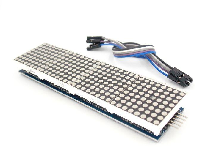 MAX7219 Dot Matrix Modul Mikrokontroler 4 Dalam Satu Tampilan dengan 5 P Baris
