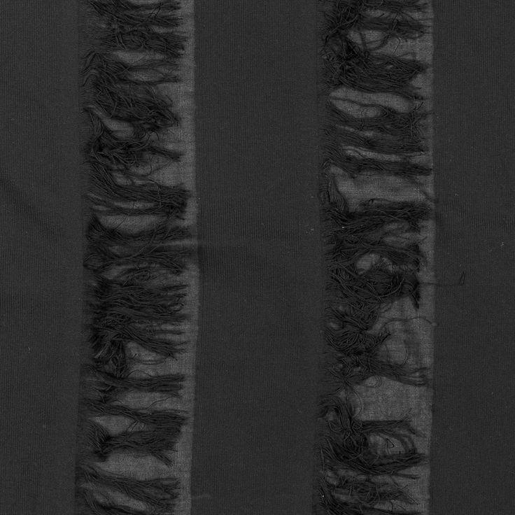 Sea NY Black Cotton Fringed Fabric